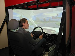 In de simulator